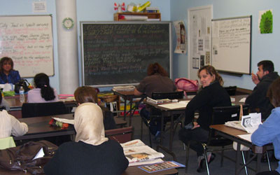 adult students sitting in classroom